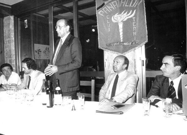 Elso Cruciani con Nando Rossi