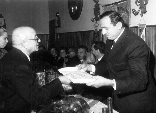 Il tesoriere Garzuglia con Ercole Baldini