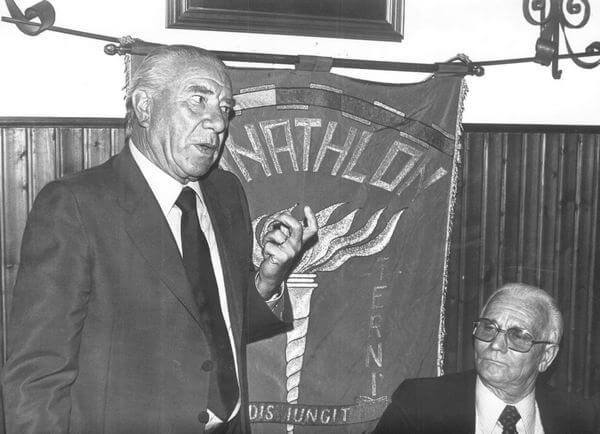 Il presidente Latini con Ferruccio Valcareggi
