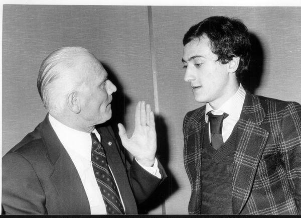 Il presidente Rodolfo Latini con Pietro Mennea