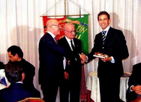 Con l'arbitro di calcio Paolo Tagliavento